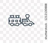 locomotive vector outline icon...   Shutterstock .eps vector #1212130888