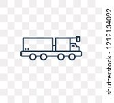 lorry vector outline icon... | Shutterstock .eps vector #1212134092