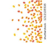 maple leaves vector background  ... | Shutterstock .eps vector #1212135535