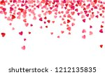 ruby red flying hearts bright... | Shutterstock .eps vector #1212135835