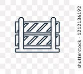 road barrier vector outline... | Shutterstock .eps vector #1212136192