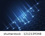 abstract technology blue... | Shutterstock .eps vector #1212139348