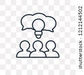 brainstorming vector outline... | Shutterstock .eps vector #1212144502