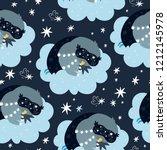 good night seamless pattern... | Shutterstock .eps vector #1212145978