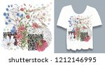 stylish  designer print on t... | Shutterstock . vector #1212146995