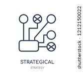 strategical planning icon.... | Shutterstock .eps vector #1212150022
