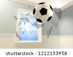3d rendering of a soccer ball... | Shutterstock . vector #1212153958