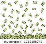 american dollar falling. usd... | Shutterstock .eps vector #1212158242