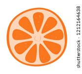 orange hand drawn vector... | Shutterstock .eps vector #1212164638