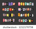 colorful newspaper word wanted  ... | Shutterstock .eps vector #1212170758