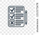 clipboard concept vector linear ... | Shutterstock .eps vector #1212172678