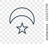 crescent moon and star concept... | Shutterstock .eps vector #1212172735
