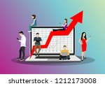 business graph growth concept... | Shutterstock .eps vector #1212173008
