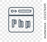 php concept vector linear icon... | Shutterstock .eps vector #1212176245