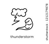 thunderstorm icon from weather...   Shutterstock .eps vector #1212179878