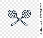 racket concept vector linear... | Shutterstock .eps vector #1212180232