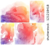 set of colorful abstract... | Shutterstock . vector #121218418