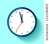 clock icon in flat style  round ... | Shutterstock .eps vector #1212184852