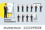 handsome business teacher man... | Shutterstock .eps vector #1212195028
