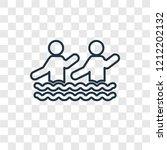 aqua gym concept vector linear... | Shutterstock .eps vector #1212202132