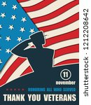 happy veterans day. greeting... | Shutterstock .eps vector #1212208642