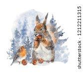 Watercolor Animal Illustration...
