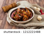 roasted sleeves chicken with... | Shutterstock . vector #1212221488