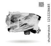 grey brush stroke and texture.... | Shutterstock .eps vector #1212228685