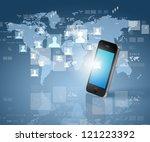 modern communication technology ... | Shutterstock . vector #121223392