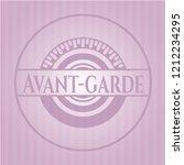 avant garde retro style pink...   Shutterstock .eps vector #1212234295