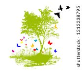abstract landscape butterfly... | Shutterstock .eps vector #1212238795