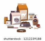 Stock vector set of accessories for pets isolated on white background vector illustration 1212239188