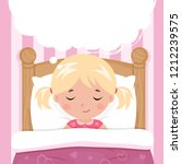 the little girl sleeps in the... | Shutterstock .eps vector #1212239575