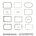hand drawn frames set. cartoon... | Shutterstock .eps vector #1212250732