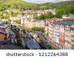historic city center of the spa ... | Shutterstock . vector #1212264388