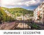 the embankment of tepla river... | Shutterstock . vector #1212264748