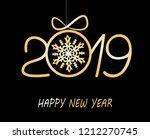 christmas greeting card 2019... | Shutterstock .eps vector #1212270745