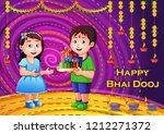 vector design of indian kids... | Shutterstock .eps vector #1212271372