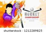 hockey championship  hockey... | Shutterstock .eps vector #1212289825