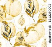 watercolor seamless pattern... | Shutterstock . vector #1212290002