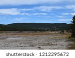 white dome geyser cone at lower ... | Shutterstock . vector #1212295672
