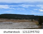 white dome geyser cone at lower ... | Shutterstock . vector #1212295702