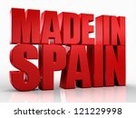 3d made in spain word on white... | Shutterstock . vector #121229998