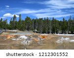 bacteria mat near surprise pool ... | Shutterstock . vector #1212301552