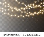 christmas lights isolated... | Shutterstock .eps vector #1212313312