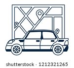 gps car tracking | Shutterstock .eps vector #1212321265