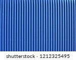 a sheet of blue corrugated... | Shutterstock . vector #1212325495