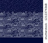 seamless vector border pattern... | Shutterstock .eps vector #1212374368