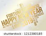 happy 2019 new year greeting... | Shutterstock .eps vector #1212380185