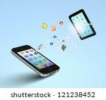 modern communication technology ... | Shutterstock . vector #121238452